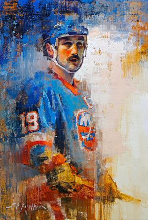 Bryan Trottier hockey art print wall art