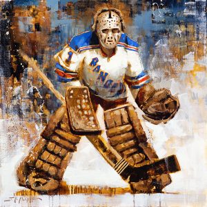 Ed Giacomin New York Rangers hockey wall art