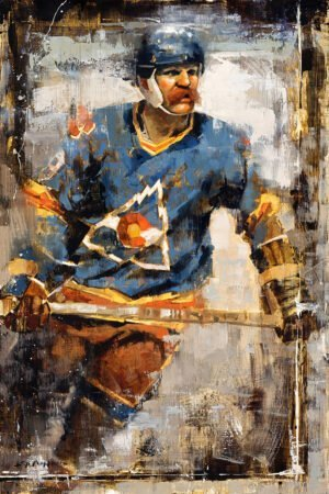 Lanny McDonald hockey art