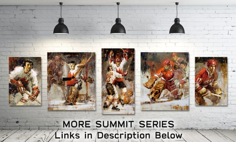Summit Series hockey art