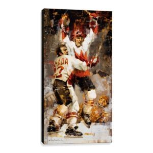Paul Henderson canvas print summit series hockey
