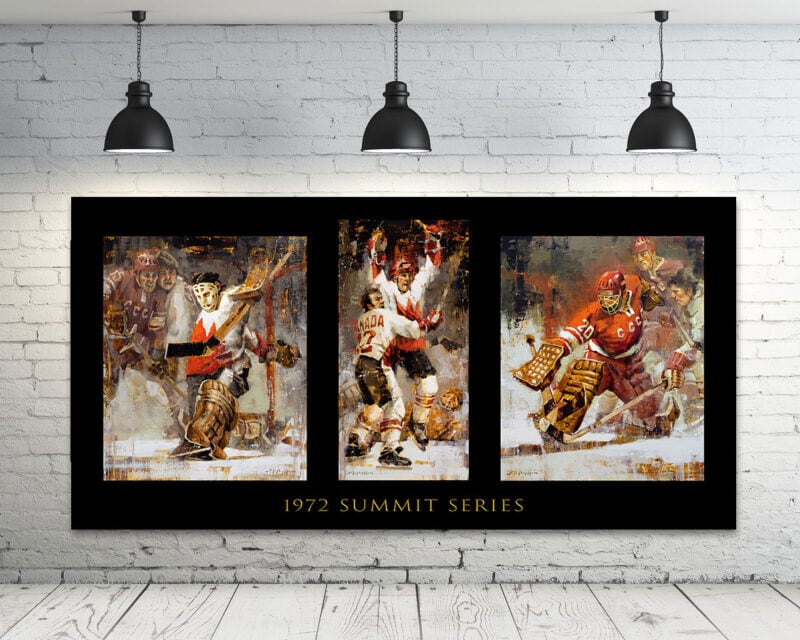 Summit Series hockey art 3 in 1 canvas print