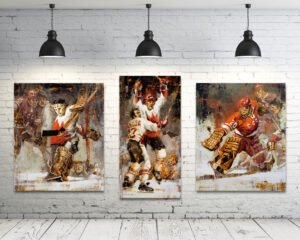 Summit Series hockey prints set of 3