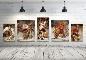 Summit Series hockey wall art set of 5