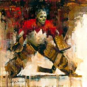Tony Esposito hockey painting art print
