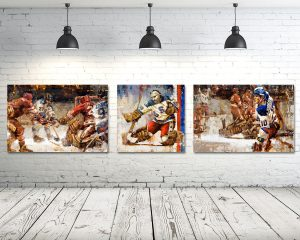 Miracle on Ice Canvas Print Set of 3 Horizontal Format 1980 Olympics USA Hockey Prints