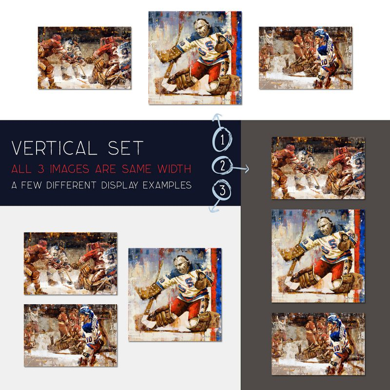 USA vertical set display examples