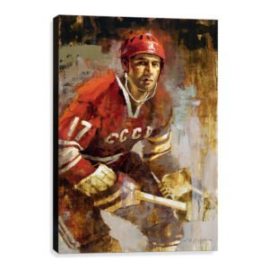 Valeri Kharlamov hockey wall art russia hockey cccp