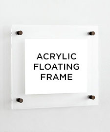 acrylic floating frame