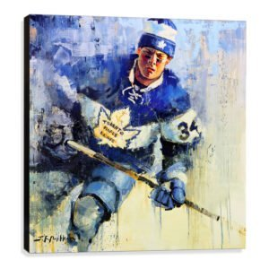 Auston Matthews art print Toronto Maple Leafs gift
