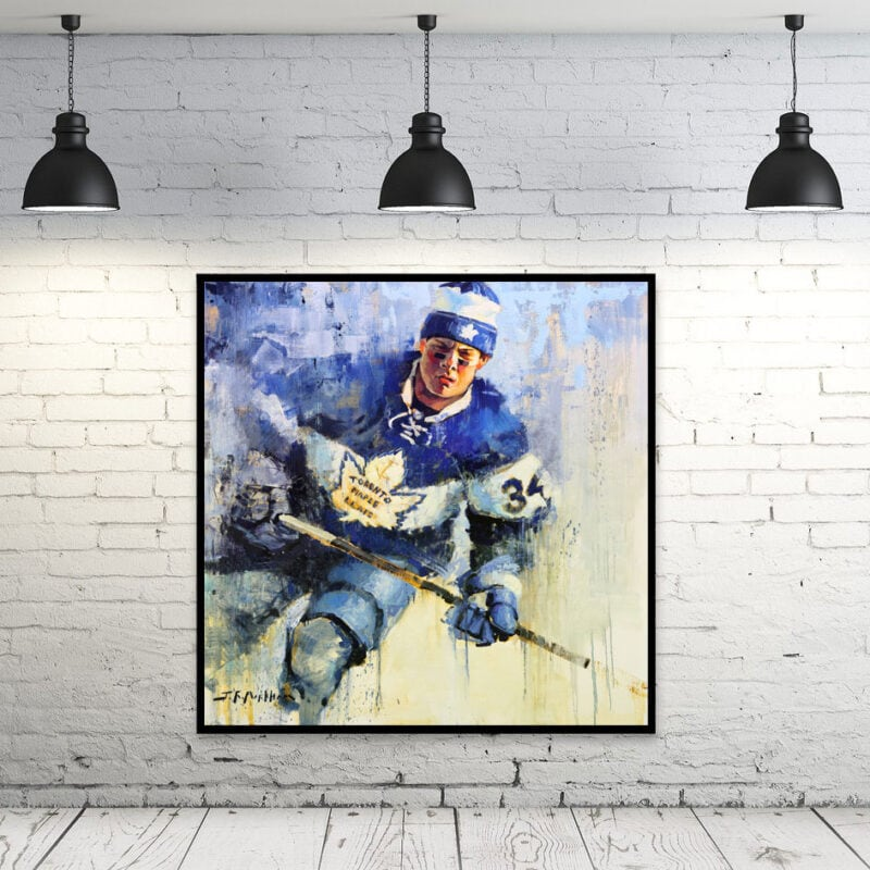 Auston Matthews wall art Toronto Maple Leafs gift