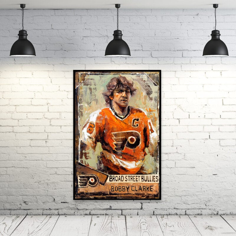 bobby clarke wall art philadelphia flyers broad street bullies