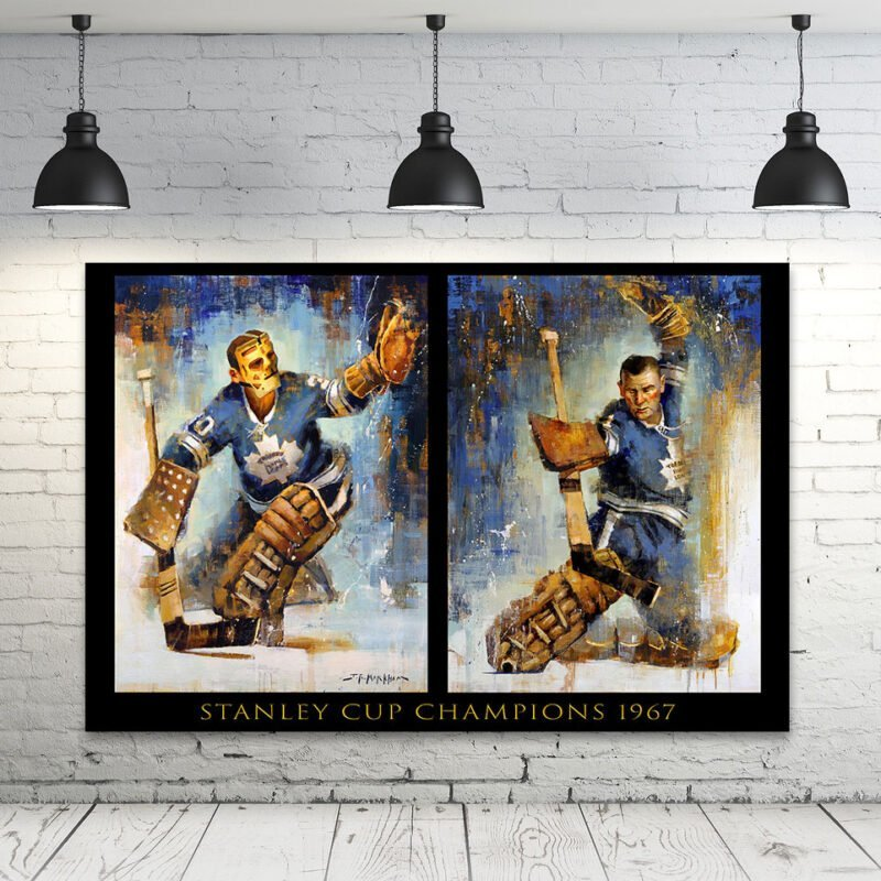 Johnny Bower and Terry Sawchuk toronto maple leafs wall art decor