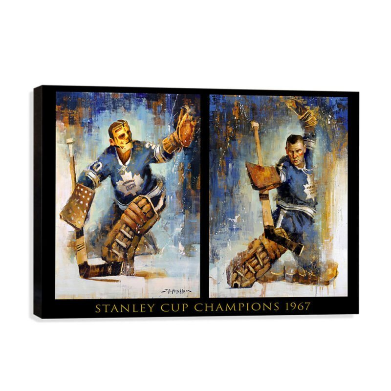Johnny Bower and Terry Sawchuk maple leafs canvas print