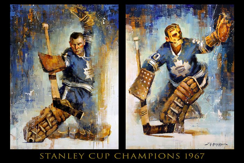 Johnny Bower and Terry Sawchuk 1967 Championship poster