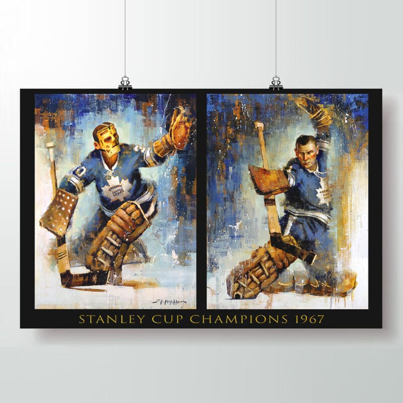 Johnny Bower and Terry Sawchuk Toronto Maple Leafs poster