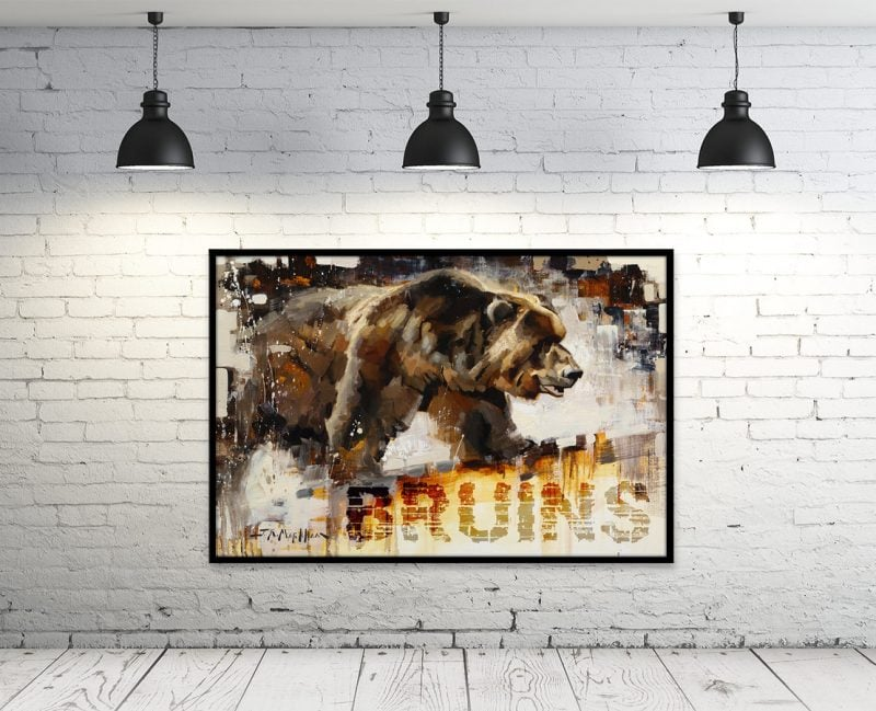 bruins hockey art print