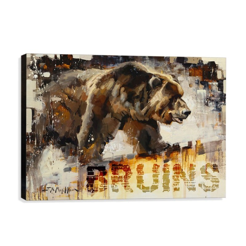 Bruins Grizzly Canvas Print