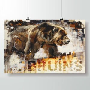 bruins grizzly poster