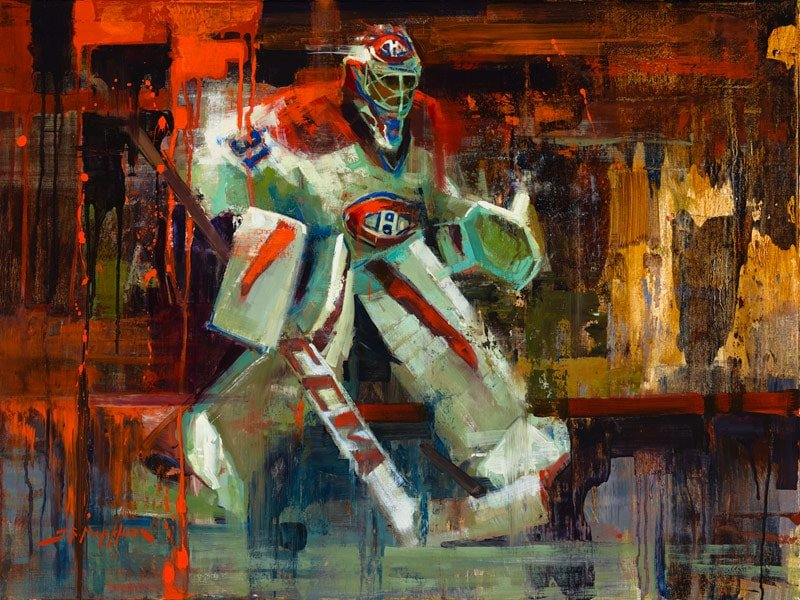 Carey Price hockey painting art print