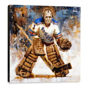 Ed Giacomin art print new york rangers