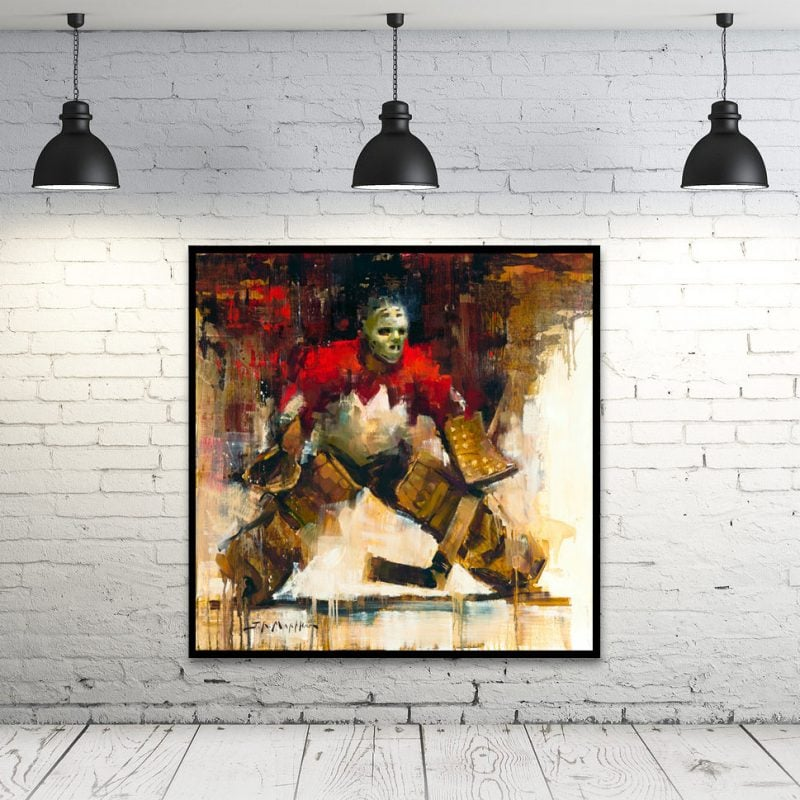 Tony Esposito Hockey Canada Framed Wall Art Print