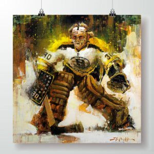 Gerry Cheevers Boston Bruins poster art print gift