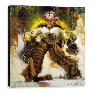 Gerry Cheevers art print Boston Bruins gift