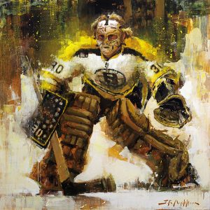 Gerry Cheevers hockey painting art print