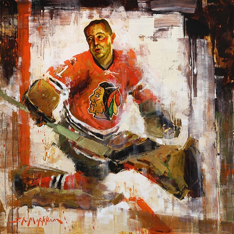 Glenn Hall hockey painting
