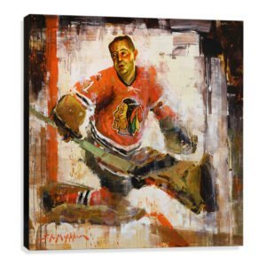 Glenn Hall art print chicago blackhawks canvas print