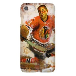 glenn hall chicago blackhawks phone case