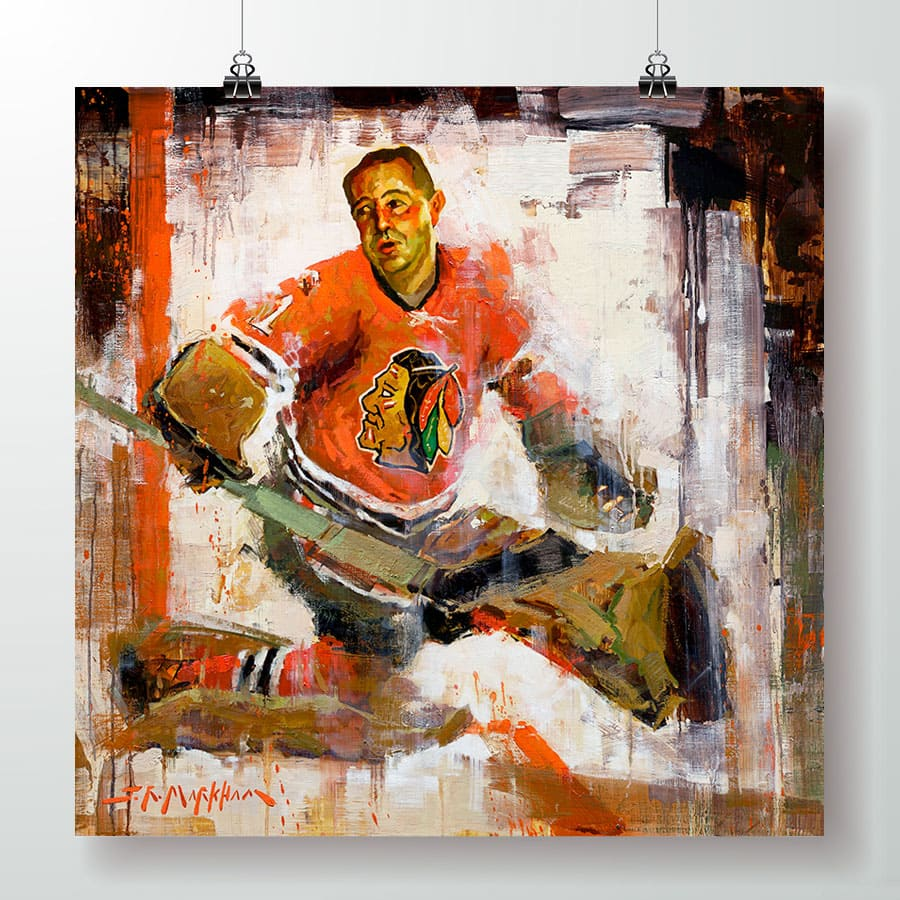 Glenn Hall Chicago Blackhawks poster print gift