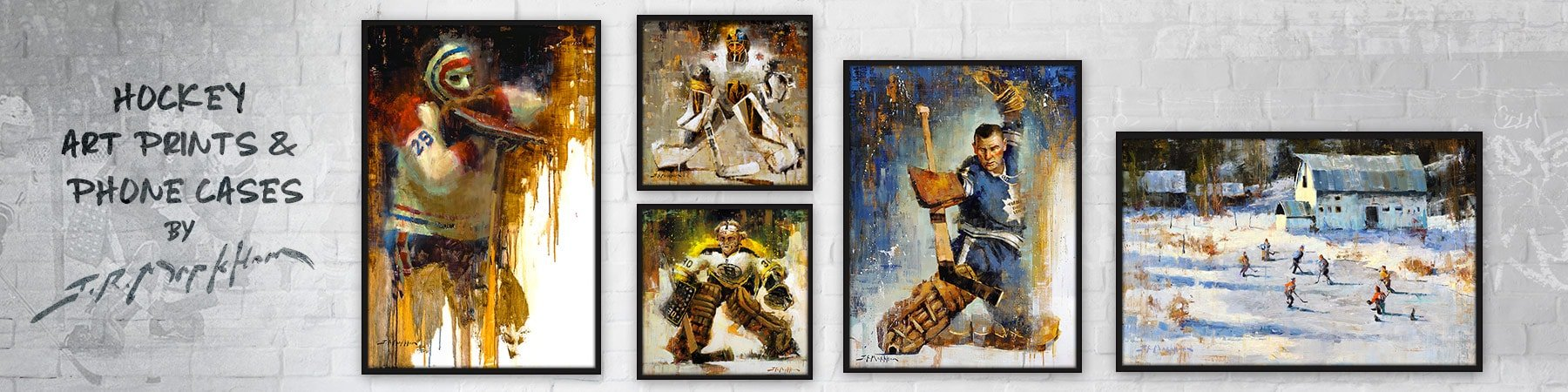 Hockey art wall art prints by Jerry R Markham
