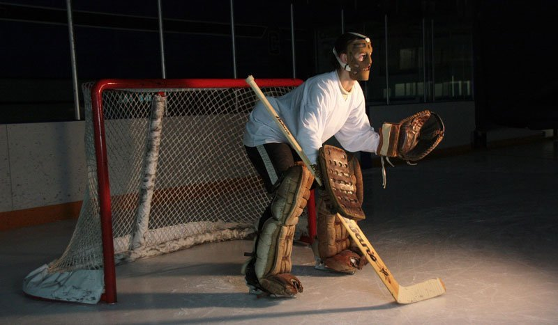 goalie photo shoot