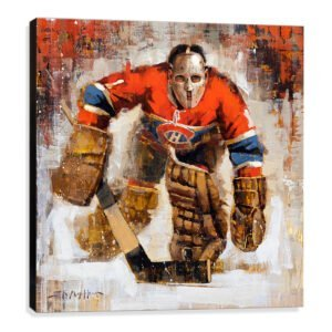 Jacques Plante art print Montreal Canadiens canvas print