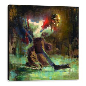 Jacques Plante art print Montreal Canadiens canvas gift