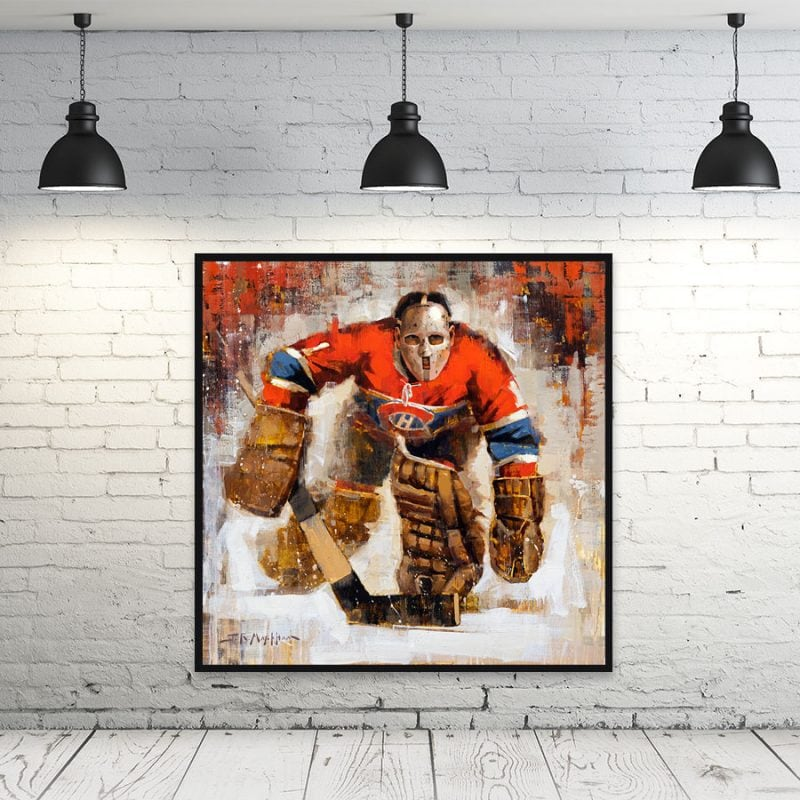 Jacques Plante Montreal Canadiens wall art print canadiens gift