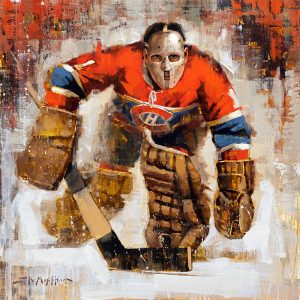 Jacques Plante Montreal Canadiens hockey wall art
