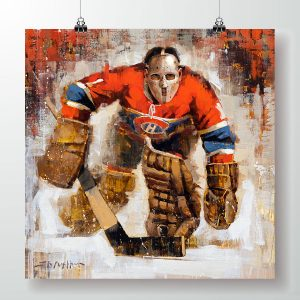 Jaques Plante Montreal Canadiens Art Poster