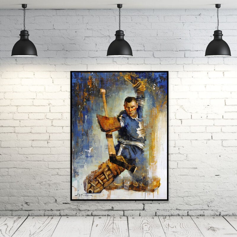 Johnny Bower wall art print framed toronto maple leafs
