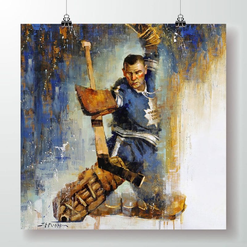 Johnny Bower Poster Print Square format