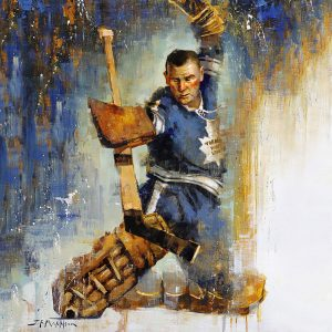 Johnny Bower Poster Print Square
