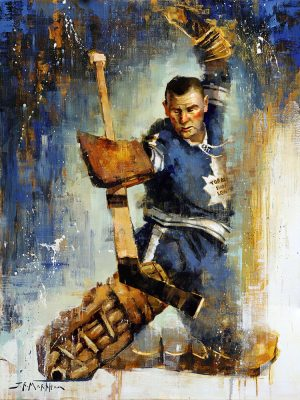 Johnny Bower painting wall art canvas print