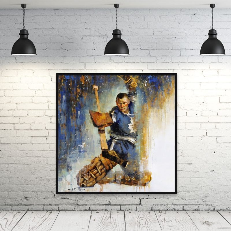 Johnny Bower framed wall art print