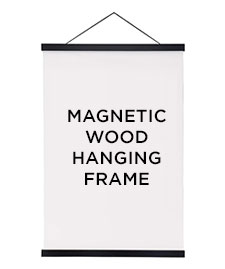 magnetic wood hanging frame