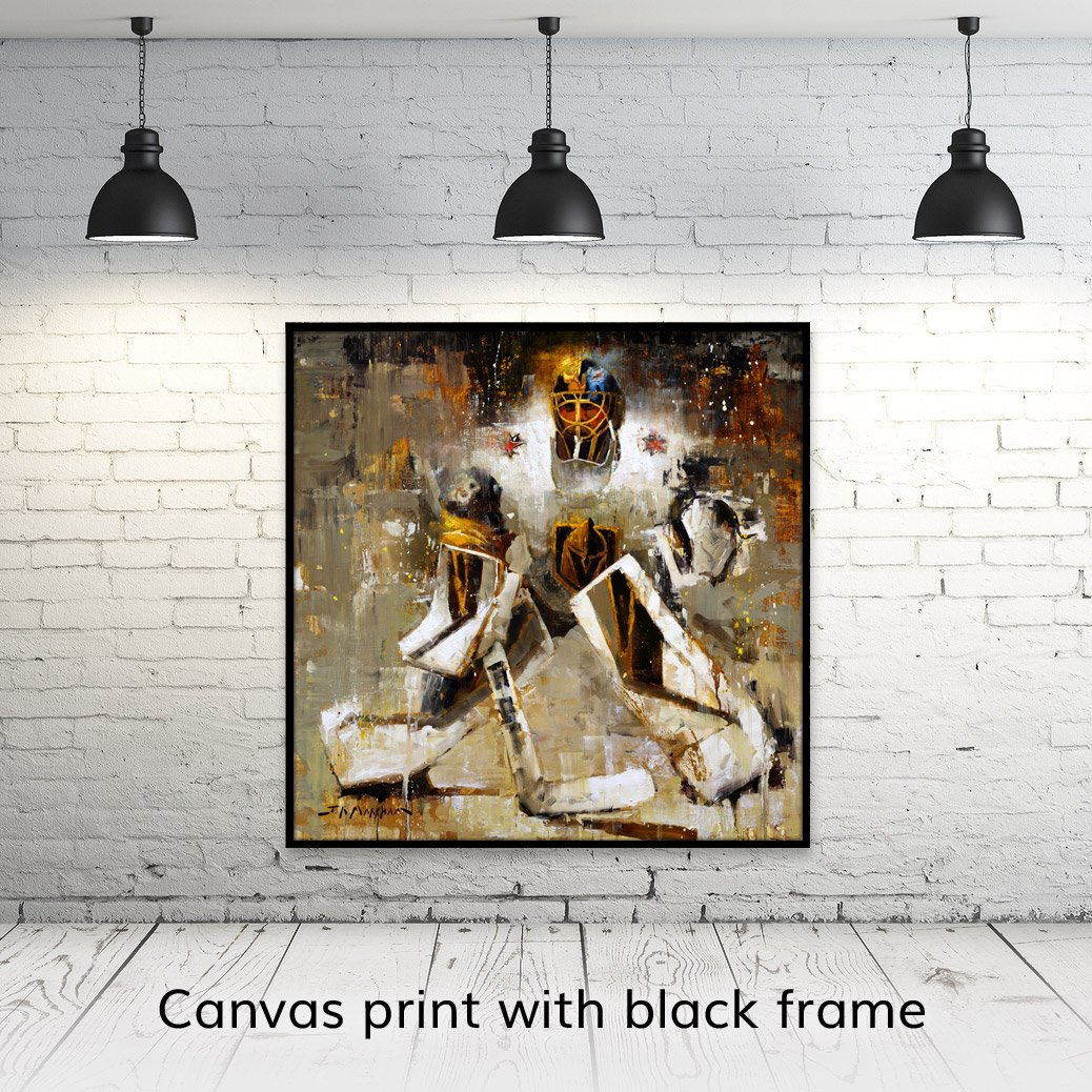 Marc-Andre Fleury canvas art print with black frame