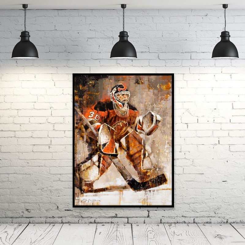 Martin Brodeur Canvas Print Framed Wall Art