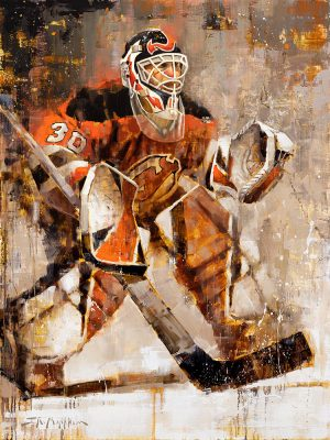 Martin Brodeur Hockey Art Canvas Print