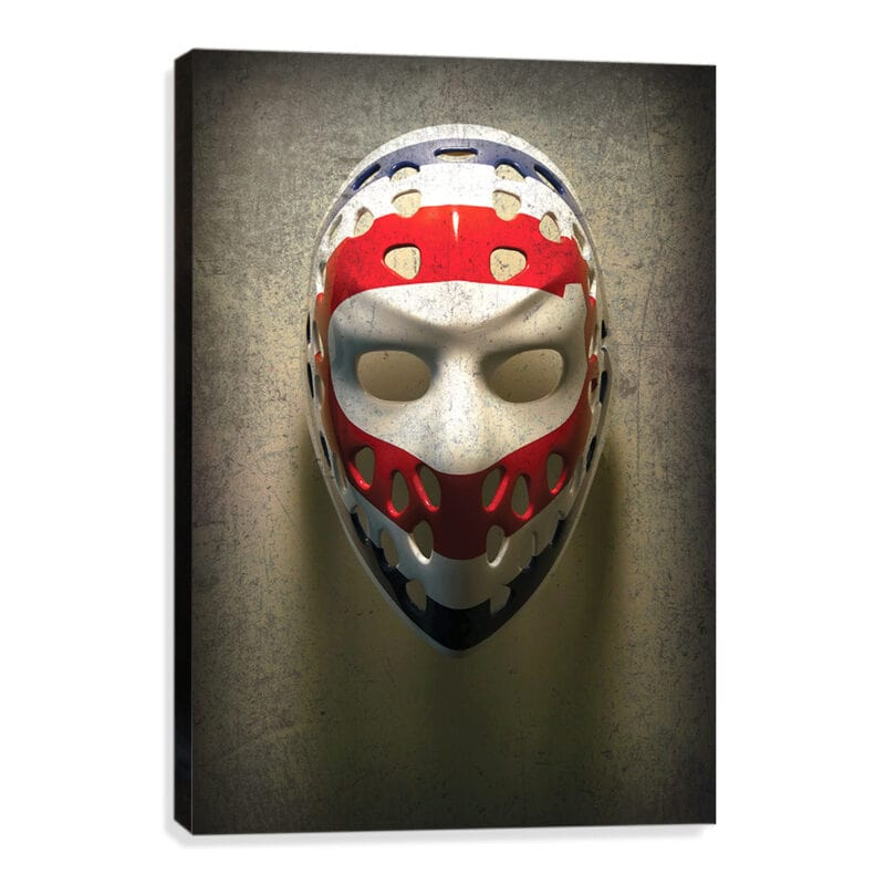 Ken Dryden goalie mask canvas print wall art